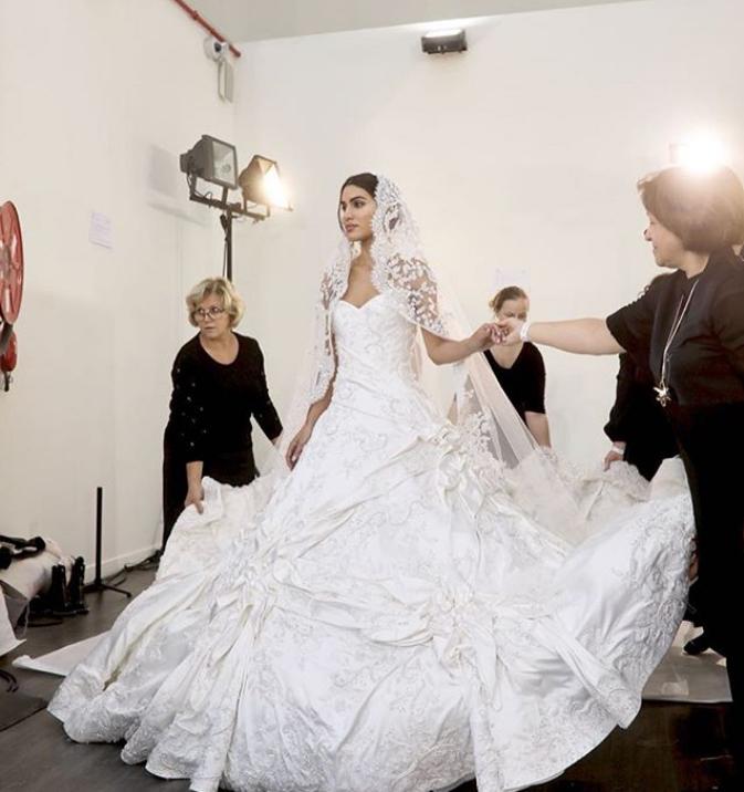 Camila Coelho for Ralph & Russo in Paris